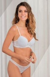 Art. 5259 Conjunto soft push de microfibra y puntilla con base y less